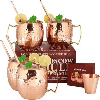 Copper cup set