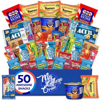 A wide variety of snacks for college students