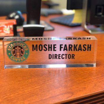 Artblox Personalized Desk Name Plate