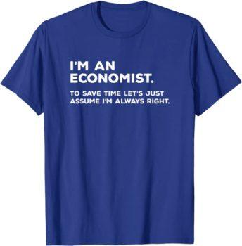 Economist graduation t-shirt