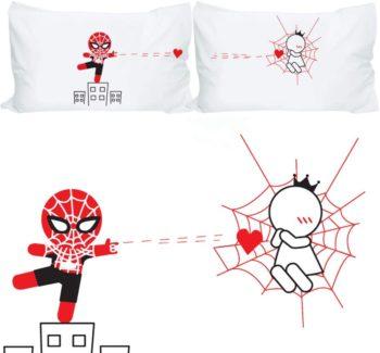 BOLDLOFT Spiderman Pillow Cases for Couples