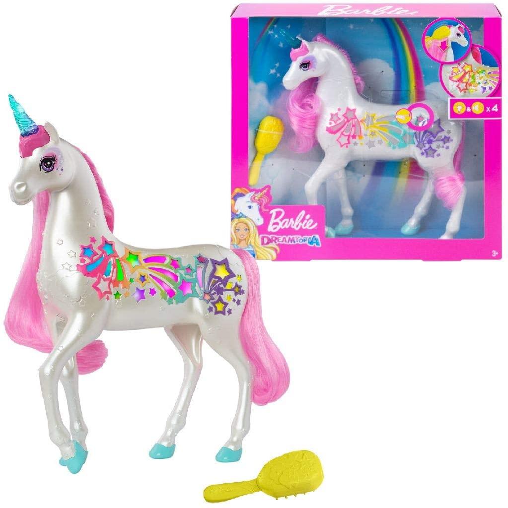 9. Barbie Dreamtopia Brush n' Sparkle Unicorn