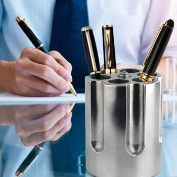 Barbuzzo Gun Cylinder Pen Holder & Paper Weight