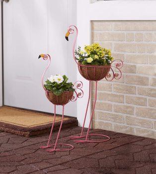 Bird Planters Flamingos