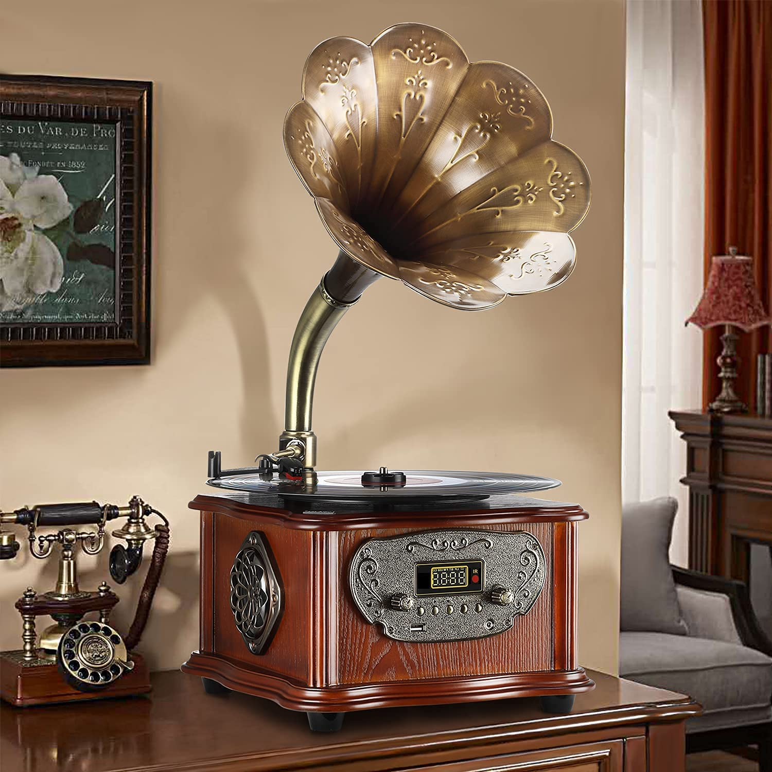 1. Bluetooth Phonograph Record Player