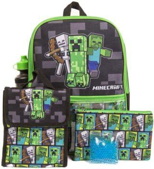 Boys Black Minecraft Backpack