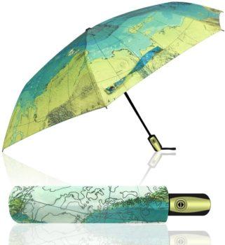 Compact World Map Travel Umbrella