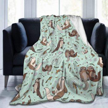 Cute otter blanket