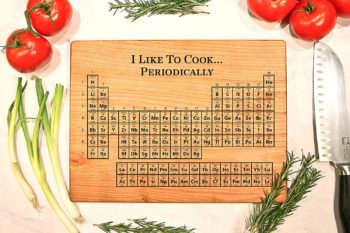 Cutting Board with the periodic table of elements