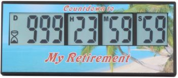 Digital Retirement Countdown Timer