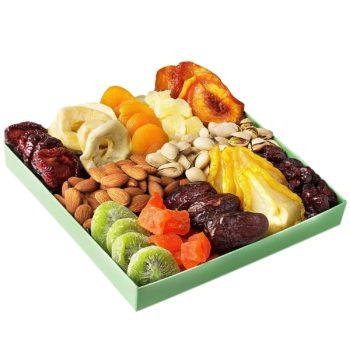 Dried fruit gift basket