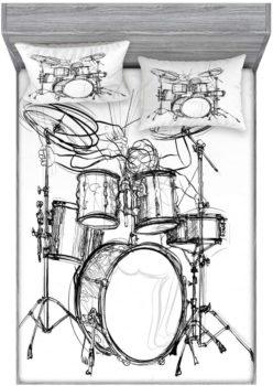 Drummer & Musical Bed Sheet