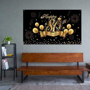 Elegant black gold party background banner