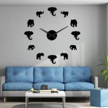 Elephant DIY clock wall clock