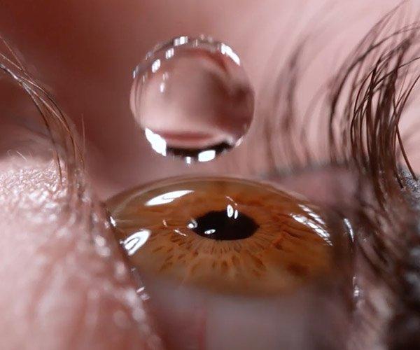 Eye Drop in Slow Motion