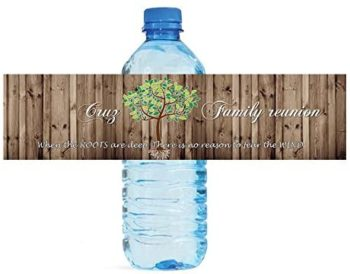 Family Reunion Water Bottle Labels