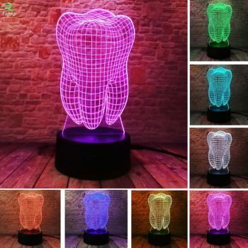 Fantastic Illusion Tooth 3D Table Lamp
