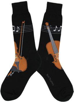 Fantastic Violin printed socks