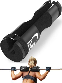 Fit Viva Barbell Pad for Standard and Olympic Barbells with Safety Straps Bonus
