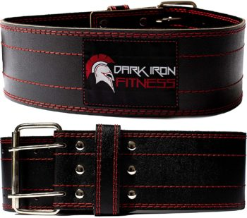 Fitness leather weight lifting belt