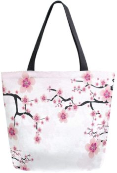 Flower Canvas Tote Women Bag