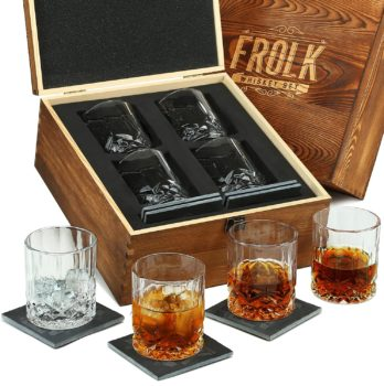 Frolk Whiskey Glasses Set of 4