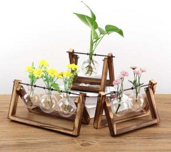 Glass Planter Bulb Vase