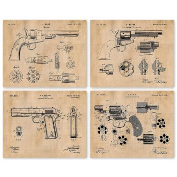 Gun patent poster print
