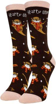 HAPPY POP Women Girls Funny Otter Socks