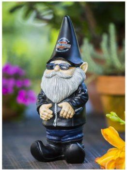 Harley-Davidson Biker Themed Garden Gnome