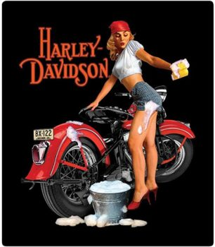 Harley-Davidson Wash Babe Tin Metal Sign