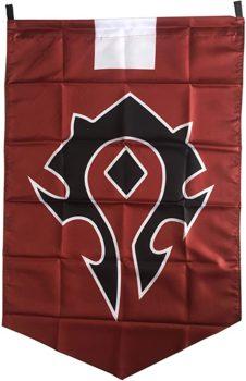 Horde Alliance Badge Banner Flag Orc Emblem Poster
