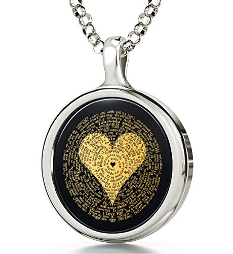 7. I Love You 24K Gold Necklace