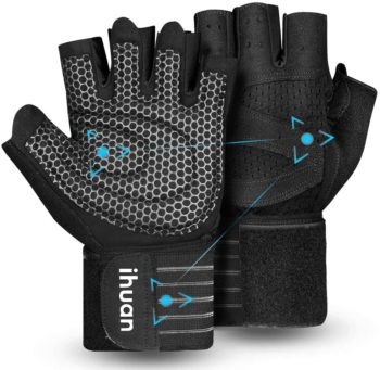 IHUAN's Ventilated Weight Lifting Gym Workout Gloves