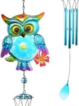 JOBOSI Owl Iron Art Wind Chimes