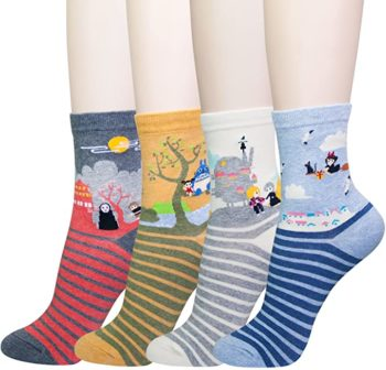 Japanese Animation Crew Socks