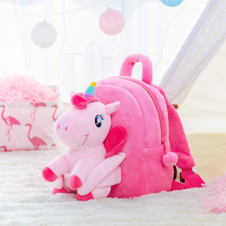 8. Kids Unicorn Plush Backpack