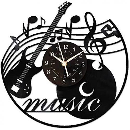 13. KingLive Music Vinyl Record Clock Music Instrument Wall Art