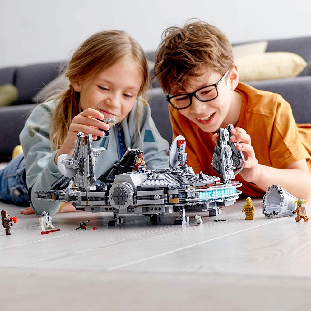 7. LEGO Millenium Falcon Building Kit and Minifigures