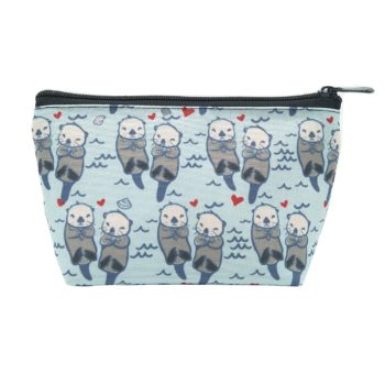 LOKIDVE Women's Cute Sea Otter Makeup Bag
