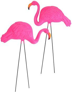 Large Bright Pink Flamingo Yard Ornament