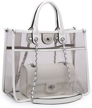 Large transparent handbag