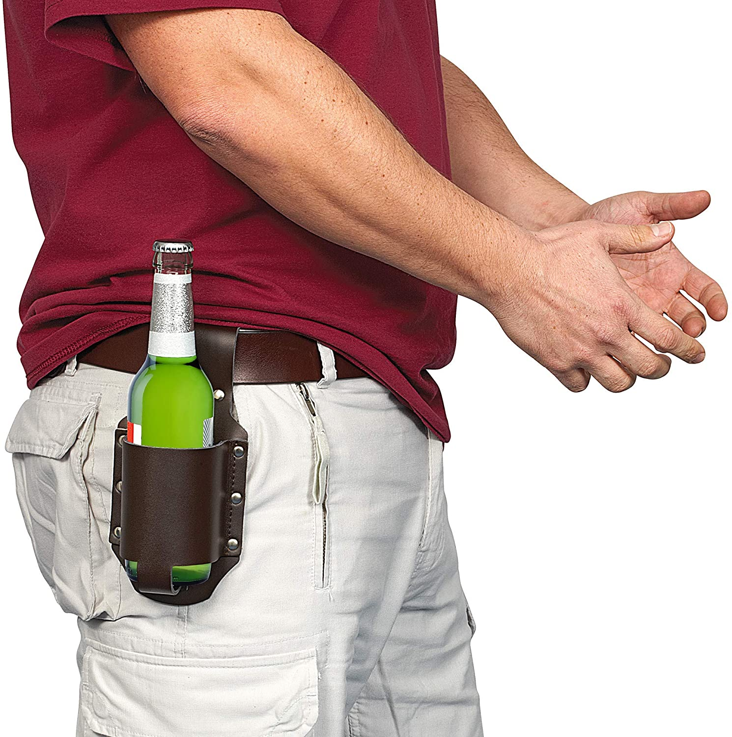 4. Leather Beer Holster
