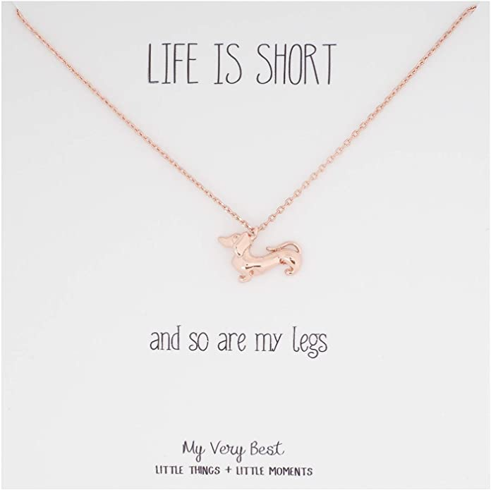 10. Life is Short Dachshund Necklace