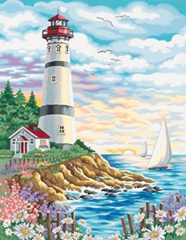 Lighthouse Paint by Numbers Kit