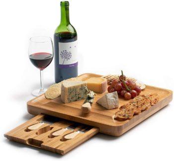 Machika Bamboo Cheese Board Set