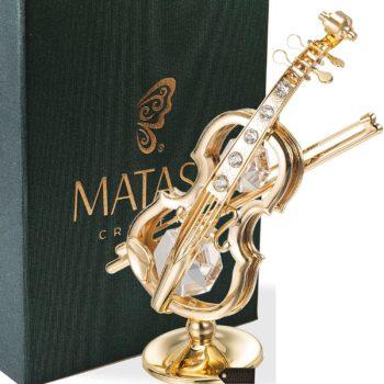 Matashi 24K Gold Plated Violin Ornament