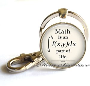 Math Key Chain Pendant