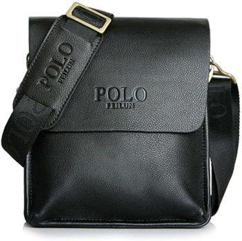 Men's Messenger Bag Classic Vintage Leather Shoulder Bag