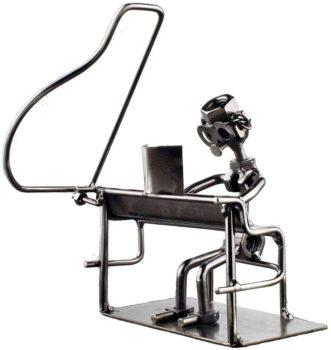Metallic Pianist Décor Figure